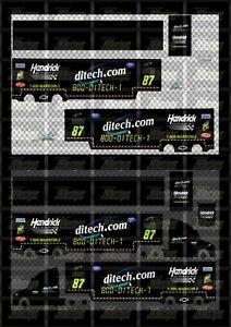 NASCAR 1/64 DECALS KB109 - KYLE BUSCH 2003 NBS #87 DITECH (HAULER)