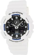 Casio Men's G-Shock GA100B-7A White Resin Quartz Sport Watch
