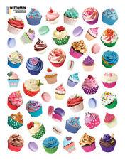 Aufkleber Sticker Wandaufkleber Klein Cupcake Muffin Cupcakes Dessert Bunt Küche