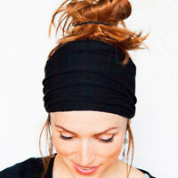 Soft Women Elastic Stretch Running Wide Hairband Yoga Headbands Turban Head Wrap