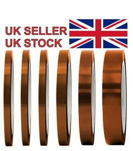 Kapton Polyimide Tape Heat Resistant Adhesive Insulation 5 - 100mm Wide 33M Long