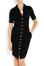 AGENT PROVOCATEUR Julieanne Black Knit Cotton Silk Cashmere Short Sleeve Dress M
