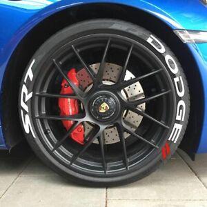 Permanent Tire Lettering Stickers DODGE SRT 15''16''17'18'19'20 (8 DECAL Kit)