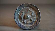Very Fine Korean Joseon Dynasty Travel Size Bronze Hand Mirror