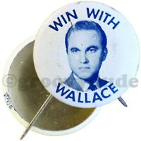 "Early Win With Wallace for Alabama Governor 1"" Photo Campaign Pin Pinback Button"