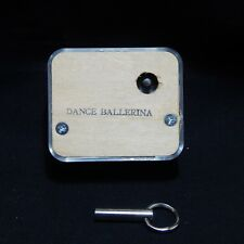 ''DANCE BALLERINA'' NARCO CLEAR SEE-THRU MUSIC BOX MOVEMENT WITH KEY