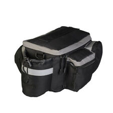Bike MTB Trunk Bag with Rear Reflective Strip Bicycle Trunk Rear Bag Black NEW