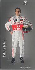 Pedro de la Rosa Signed Vodafone McLaren F1 Promo Card 1.