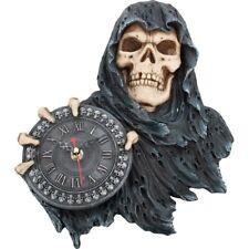 Nemesis Now Face of Time Grim Reaper Wall Clock Gothic Room Decor Fantasy 29.5cm