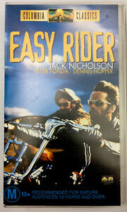 Easy Rider Peter Fonda VHS Video Cassette Tape Clear Small Box PAL M15+