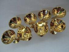8 Elegant Gold Plated Faceted Wine Goblets Concord Wine Set Original Boxes