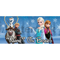 Disney Frozen Personalised Baby On Board Car Sign (1)