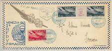 REPUBBLICA - STORIA POSTALE: BUSTA SPECIALE Posta Aerea VENEZIA: COL VAPORE 1947