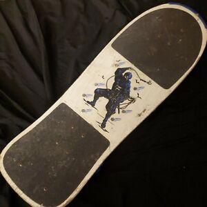 "Vintage 1980s Ninja Ninzya Skateboard Deck 30"" ×10"" All Original"