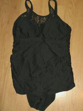 New listing Athena womens bathing suit swim 10 swimwear lace 1 piece padded black