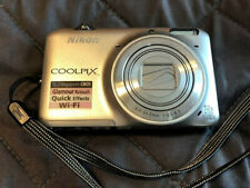 NIKON Coolpix S6500 WiFi Digital Camera 16MP CMOS 12x Wide 1080p LENS WON'T OPEN