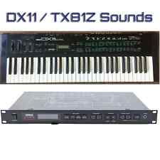 Most Sounds: Yamaha DX11, TX81Z, WT11
