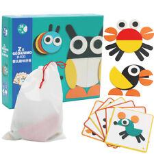 Geometry Block Animal Jigsaw Color Shapes Puzzle Montessori Educational Toys