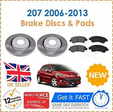 For Peugeot 1.4 & 1.4 HDi 207 2006-2013 Front Brake Discs 266mm & Pads Set New