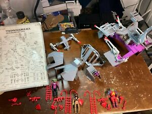 1987 Tyco Dino Riders T-REX PARTS LOT w/ all 3 Original Figures & Instructions