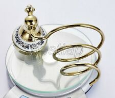 Gold Color Brass Wall Mounted Bathroom Accessories Hair Dryer Holder sba258
