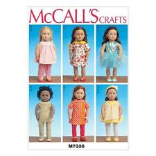 McCALL'S SEWING PATTERN CRAFTS CRAFTS 18 INCH DOLL CLOTHES DRESS TOP PANTS M7336