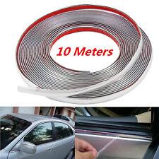10M x 10mm Car Bumper Door Edge Guard Chrome Decor Protector Moulding Trim Strip