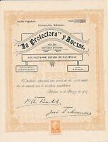 """1907, Compania Minera """"La Protectora"""" y Anexas SA, San Salvador, Mexico No. 244"""