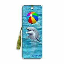 3D Bookmark - Dolphin & Beach Ball