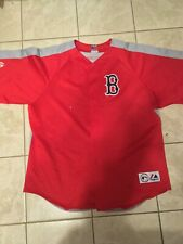 Vintage Boston Red Sox Majestic Authentic Baseball Jersey Red/Gray 2xl Flaws