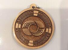 "Mayan Wings Necklace Maple wood pendant 1.75"" USA Artisan Spiritual Sacred #Gift"