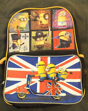 LOT # 970 MINIONS BOOK BAG/BACK PACK with 2 pouches MADE IN CHINA 3 YEARS & UP.