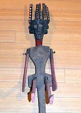 Antique Bamana Masquerade Marionette Ntomo Mask Human Figure Puppet Mali, Africa