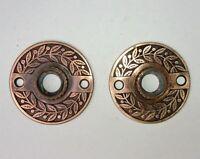 Pair of Antique Victorian / Eastlake Escutcheon Rosettes Door Plates Backplates