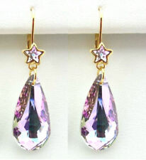 KIRKS FOLLY ASTRAL MYSTIC CRYSTAL LEVERBACK EARRINGS SWAROVSKI CRYSTALS
