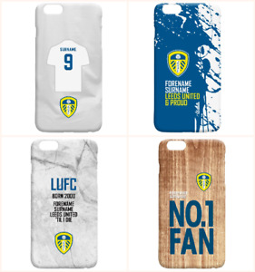 Personalised Leeds United FC Phone Case iPhone Samsung Cover Football LUFC