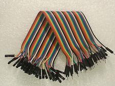 40 Wire 40p Male-Female Breadboard Jumper Ribbon Wires 20cm for Arduino US SHIP