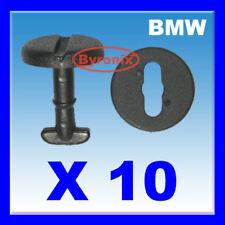BMW 3 5 7 E36 E46 E38 E39 - FLOOR CARPET MAT CLIPS TURN LOCK BLACK PLASTIC