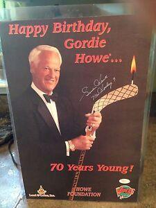 GORDIE HOWE Autographed HAPPY 70th BIRTHDAY VIPERS 11X16 1/2 JSA