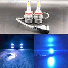 H8 H9 H11 H16 8000K Ice Blue 8000LM CREE LED Headlight Bulbs Kit High Low Beam