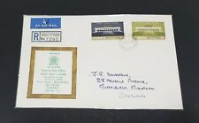 Zambia 1967 National Assembly Building Lusaka Registered Mail to Scotland FDC