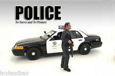 American Diorama 24031AD Figurine Police Officer for 1:24 scale Police Car New