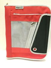 Mead Pro Platinum 3 Ring Binder Red Black Gray