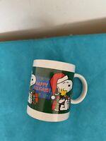 Snoopy Woodstock Charlie Brown Peanuts Happy Holidays Coffee Cup Mug
