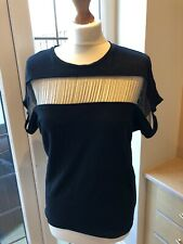 Women's Maje Black Top Woth Chain Detail Size Small