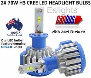 2X H3 CREE LED  CAR HEADLIGHT HI LOW BEAM BULB LAMP HALOGEN CANBUS CAR UTE