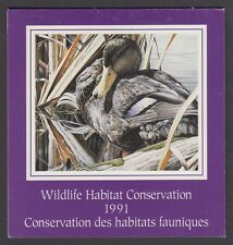 FWH7 1991 BLACK DUCK BY CHRIS BACON, FEDERAL WILDLIFE CONSERVATION & STAMP