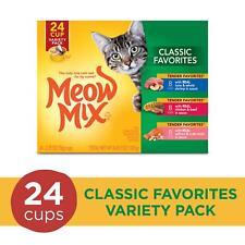New listing Meow Mix Classic Favorites Variety Pack Wet Cat Food, 2.75 Ounce, 24 Cups