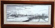 Gravure Méry-sur-Seine - Encadrement du XIXe siècle avec étiquette (Troyes) Aube