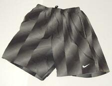 NIKE DRI-FIT Kids Boys Gray Geometric Polyester Athletic Shorts Size Small (8-9)